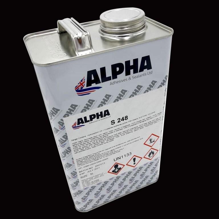 Alpha S248 Sprayable Adhesive 5 Litre Red